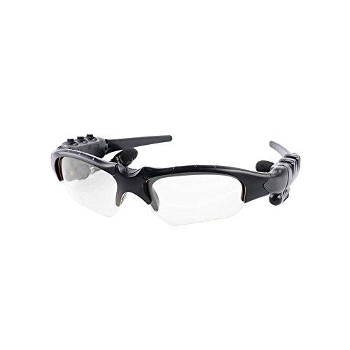 ROKOO Smart Gläser Bluetooth Kopfhörer Sonnenbrille Wireless Stereo für Sport Outdoor, Durchsichtig
