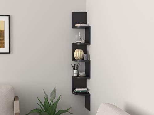 Forzza Vincent Corner Wall Shelf (Wenge)