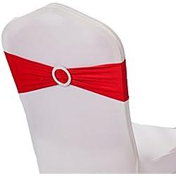 50pcs de Cinta Roja con hebilla para sillas TODOS los colores a elegir