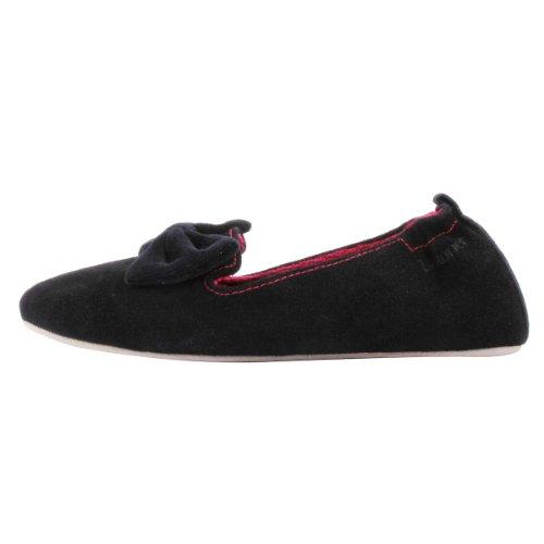 Nero Isotoner Pantofole Moglie Pantofole Camoscio IwBUpq