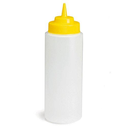 Bottiglia da spremere per salsa, colore: giallo, 32 oz/ml 945 squeezy mustard-dispenser per fast food