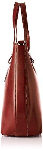 Chicca Borse 80046, Borsa a Tracolla Donna, 40x33x14 cm (W x H x L) Marrone