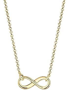 Elli Premium Damen-Kette mit Anhänger Unendlichkeitszeichen 925 Silber 40 cm 0109670214-40
