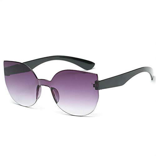 HSNCXD Sonnenbrillen Rimless Cat Eye Polarized light Sunglasses Women Gradient Mirror Lens Retro Eyewear