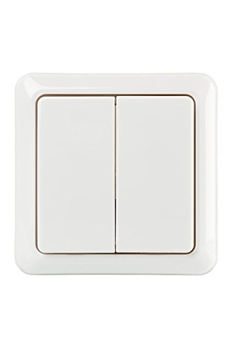 DLX-Interruptor de pared doble inalámbrico, blanco (2 Interruptores)