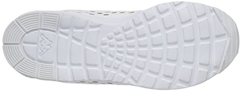Kappa Milla Footwear Women, Synthetic/Mesh, Baskets Basses Femme Blanc (White)