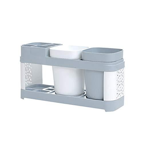 FGHO Zahnbürstenhalter - Zahnbürsten Halter Spender Badezimmer Caddy Organisator Wand - Zahnbürste Caddy