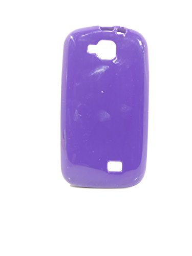 iCandy™ Colorfull Thin Soft TPU Back Cover For Micromax Canvas Fun A63 - Purple  available at amazon for Rs.109