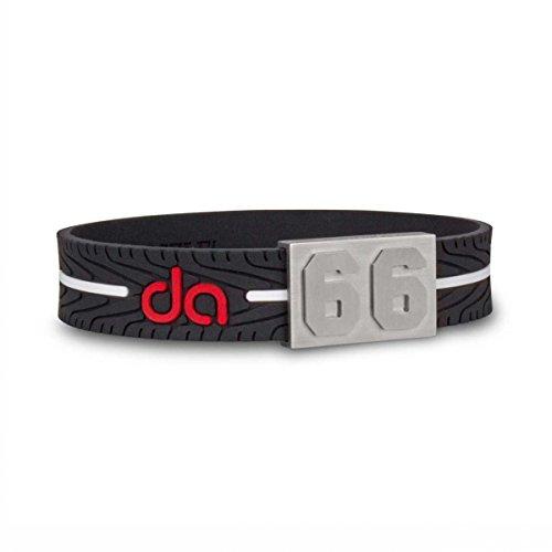 BRAYCE® #66 Daniel Abt-Armband mit Deiner Nummer 00-99 (Startnummer, Glückszahl) im Reifen-Style (Tyre Tread): Der Schmuck für Formel-E und Abt-Fans(unisex)