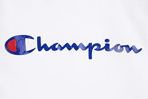Champion Herren Kapuzenpullover Hooded Sweatshirt-American Classics Weiß (Wht)