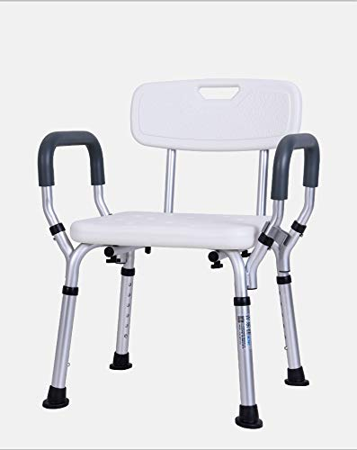 ASGDVJFGSD Toilettensitz Stuhl Ältere Bad Dusche Falten Tragbare Toilette Stühle Duschstuhl Ältere Sitz Kommode für 150 kg Badezimmer Stuhl -