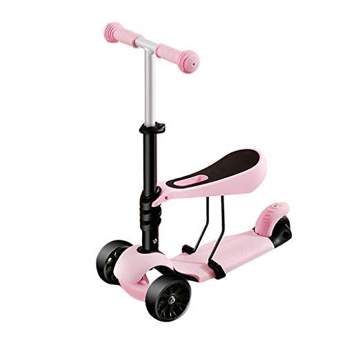 Trottinette Électrique La Chaussure 1-2-3-6 Ans De Scooter pour Enfants Peut S'asseoir Clignotant La Roue 1 À 2 Ans Voiture De Bébé LCSHAN (Color : Pink)