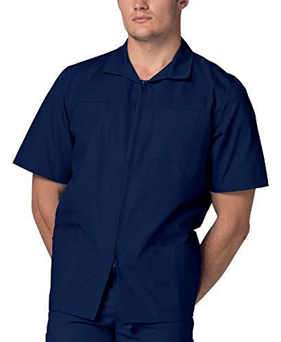 Adar Uniforms Schrubb-Jacke für Männer, Arbeitsjacke für Krankenschwestern & Ärzte 607 Farbe: NVY | Größe: L