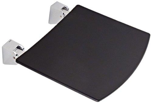 Preisvergleich Produktbild Keuco 14980010037 Klappsitz Plan verchromt (RAL 7021), schwarzgrau