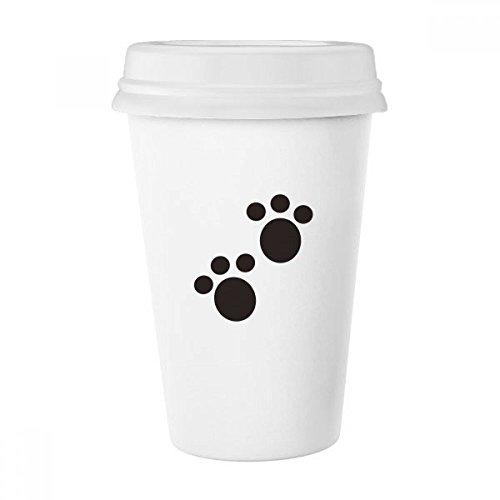 Dog Animal Claw Paw Print Silhouette Schützen Classic Tasse Weiß Keramik Keramik Tasse Kaffee Milch Tasse Geschenk - Becher Kaffee Animal-print