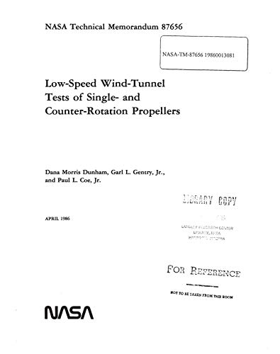 Low-speed wind-tunnel tests of single- and counter-rotation propellers (English Edition)