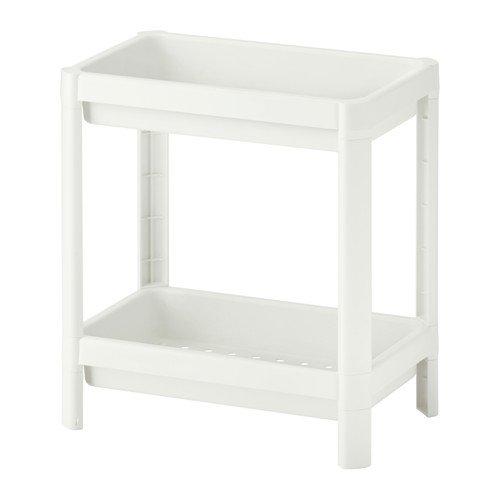 IKEA VESKEN Estantería con 2 niveles, color blanco (36 x 23 x 40cm)