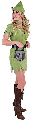M212141-S Damen Robin Hood Jäger Kostüm grün Gr.S (Jäger Kostüm Girl)