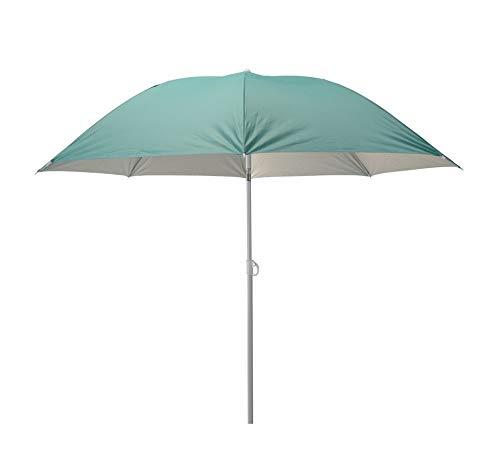 Meinposten. Sonnenschirm 2in1 Strandschirm höhenverstellbar UV Schutz Schirm Strand Ø 155 cm (Türkis-Grün)