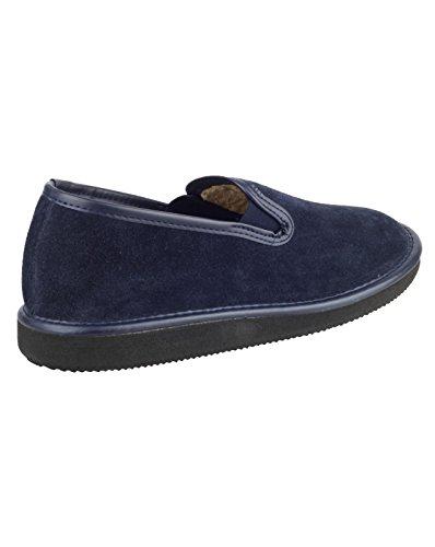 Classica Pantofola Chiusura Mirak Scivolare Luce Uomini Camoscio Su Barton Scarpa Blu Navy qxqItp