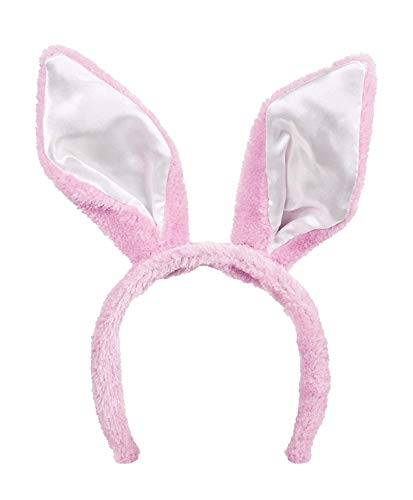 TH-MP Hasenohren Haarreif Bunny Osterhase Kostüm Zubehör Löffel Kaninchen Tierkostüm Accessoire (Rosa) (Rosa Löffel Kostüm)