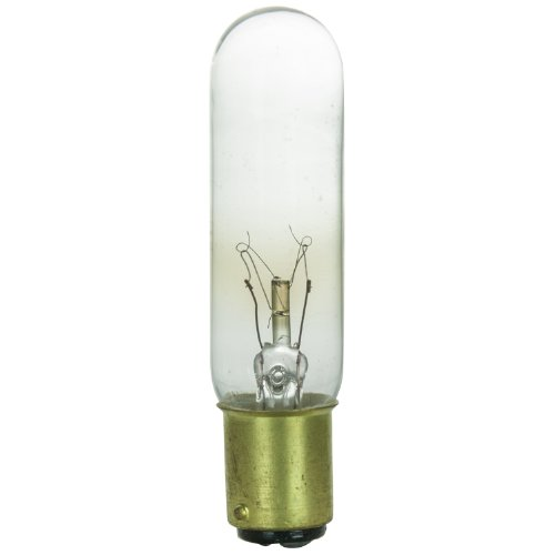 Sunlite 15T6/CL/DC Glühlampen 15Watt, DC basiert, T6.5tublular Glühbirne, klar, - T6.5-glühbirne