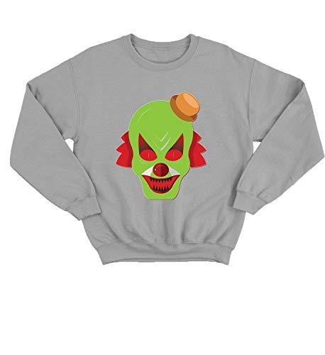 LumaCrewnecks Halloween Scary Clowns Monsters_006240 Cute Funny Sweater Sweatshirt Pullover Present - SM Grey Crewneck