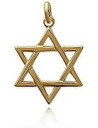 e5ef5045b52f Madisson Jewellery Colgante Zircon Chapado en Oro con Estrella de David