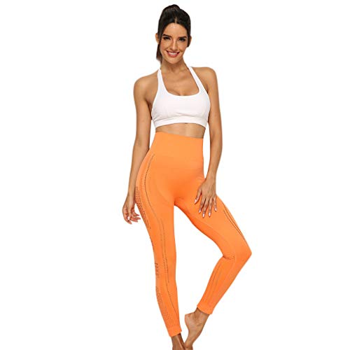 Yoga Pants Women's solid Color Tight hip high Waist Yellow Pink Wine Black Bule Orange Pants