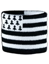 Digni® Poignet éponge avec drapeau France Bretagne, pack de 2