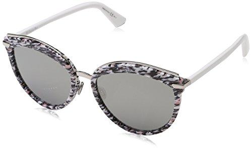 Dior Damen DIOROFFSET2 0T W6Q Sonnenbrille, Pink (Pkwhtgrnred/Grey Silver Ar), 57