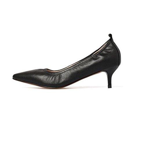 YIXINY Escarpin Chaussures Pour Femmes Sweet Talons Hauts Pointu Bouche Peu Profonde Travail Etiquette Talon 3cm