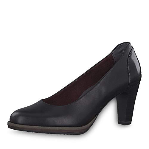 eedb474900e Tamaris Women Court Shoes 22425-23, Ladies Classic Court Shoes, Court  Shoes,Heel Shoes,Evening Shoes,Stiletto Shoes,Black Leather,38 EU / 5 UK