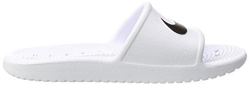 Nike Wmns Kawa Shower, Ciabatte Donna Bianco (Blanc/noir)