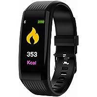 B06 Farbbildschirm Herzfrequenz Smartes Armband|Fitness Armband mit Pulsmesser|Fitness Tracker Uhr |Aktivitätstracker Schrittzähler Blutdruckmonitor |Für Kinder Damen Männer