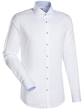 JACQUES BRITT Business Hemd Slim Fit 1/1-Arm, extra lang Bügelleicht Uni / Uniähnlich City-Hemd Hai-Kragen Manschette...