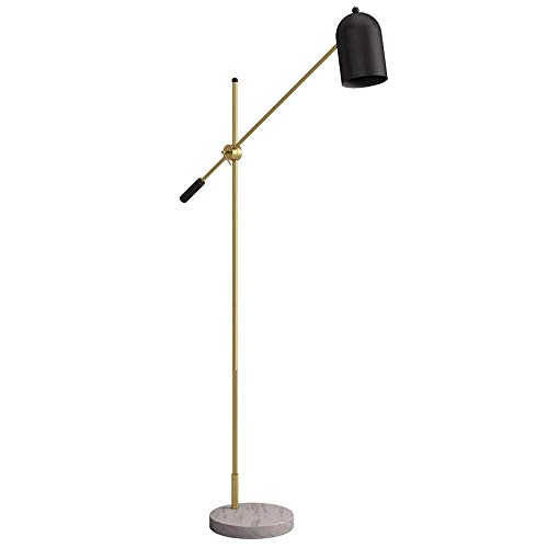 FISH Stehlampe Mit Einstellbaren Metallschirm for Wohnzimmer Lesen Schlafzimmer Marmor Stehlampe Restaurant Bar Club Wohnzimmer -