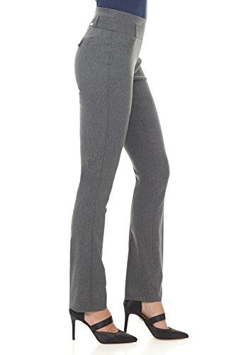 Rekucci Damen Seien Sie in Komfort bekleidet schlanke Stretch-Hose Anthrazit