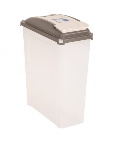 25 Litre Plastic Waste Bin High Quality with Flap Lid Recycle Bin Recycling Cat Dog Pet Food Container