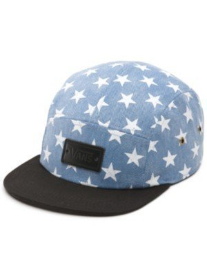 Vans Womens Willa Fashion Hat Washed Denim Blue Stars