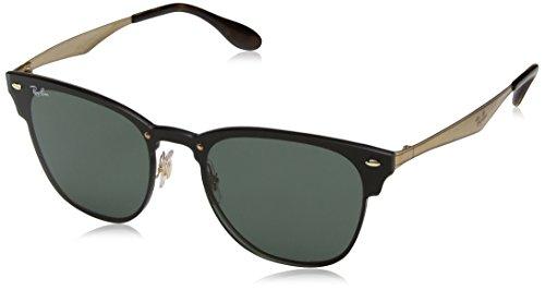Ray-Ban Rayban Unisex-Erwachsene Sonnenbrille 3576n Gold Striped/Graygreen 41