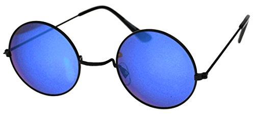 Immerschön Sonnenbrille blau John Lennon Ozzy Osbourne Hippie Retro 70´s Woodstock (Osbourne Ozzy Brille)