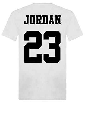 NEW unisexe t-shirt pour homme Jordan 23de Michael Air MJ Chicago Bulls basket-ball Washington Jordans - Noir - Large -