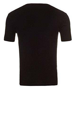 Yazubi 3er, 2er oder 1er Pack Slim Fit Basic Herren T-Shirt mit Rundhalsausschnitt 3er Pack schwarz (1001)