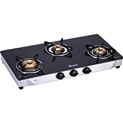 Quba S3 Toughened Glass Gas stove 3 Burner G350A (Automatic)
