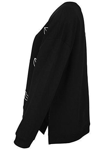 Catwalk Junkie - Veste Sweat - Décontracté - Uni - Manches Longues Femme Noir
