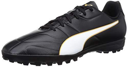 Puma Herren Classico C II TT Fußballschuhe, Schwarz Black White-Gold, 45 EU