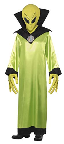 Dress Kostüm Up Teenage - Smiffys, Herren Alien-Lord Kostüm, Robe, Maske und Hände, Größe: M, 22006