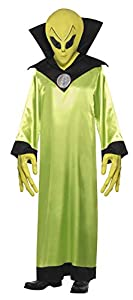 """Smiffys-22006M Disfraz de Lord de los Extraterrestres, con túnica, Careta y Manos, Color Verde, M-Tamaño 38""""-40"""" (Smiffy"""