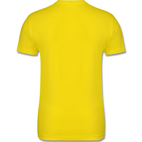 JGA Junggesellenabschied - The Walking Groom - Zombie JGA - Herren Premium T-Shirt Lemon Gelb